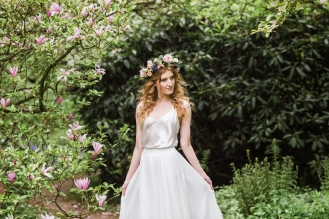 Hair by Kirsten; Makeup by Sharon, Flowercrown by Emma, Photo by Kirsty; dress by Matchimony